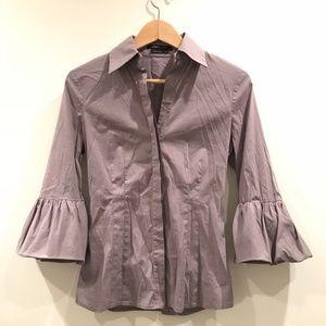 BCBGMaxAzria Ruffle Sleeve Shirt